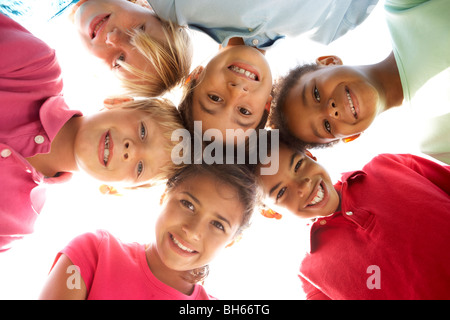 Group Of Children Playing In Park - Stock Photo