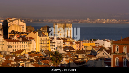 Se Catherdral, Baxia District, Lisbon, Portugal, Europe - Stock Photo
