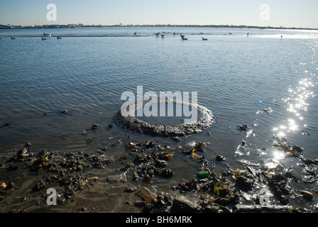 Barren Island in Dead Horse Bay in the Gateway National Recreation Area in Brooklyn in New York - Stock Photo
