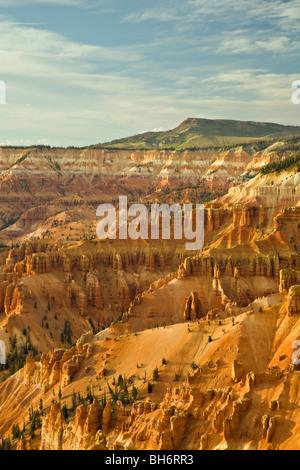 View of Cedar Breaks Amphitheater from Point Supreme in Cedar Breaks National Monument, Utah - Stock Photo