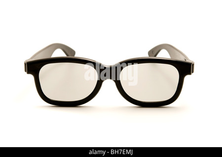 Polarized 3D glasses on a white background - Stock Photo