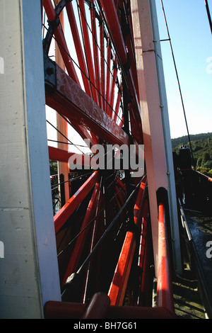 Laxey Isle of Man Lady Isabella Great Laxey Wheel - Stock Photo