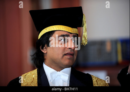 The University of Sussex Chancellor Sanjeev Bhaskar before the winter graduation ceremony took place at Brighton - Stock Photo