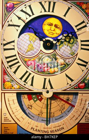 Seed planting clock - Stock Photo