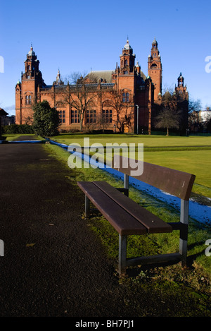 Kelvingrove Art Gallery and Museum, view from Kelvingrove Park, Glasgow, Scotland - Stock Photo