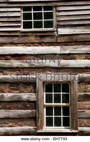 Carter Shields Cabin, Cades Cove, Great Smoky Mountain National Park - Stock Photo