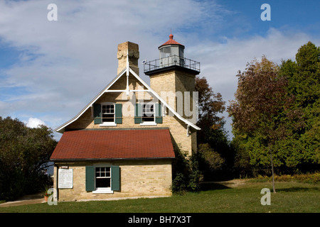 Eagle Bluff Lighthouse; Eagle Bluff Lighthouse Door County Wisconsin USA North America - Stock Photo & Eagle Bluff Lighthouse Door County Peninsula State Park Wisconsin ... Pezcame.Com
