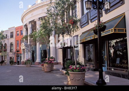 Rodeo Drive Shops Beverly Hills California - Stock Photo