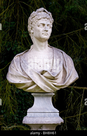 Bust of the Roman Emperor Claudius who ruled the Roman Emperor from AD41 until his death in AD54 - Stock Photo