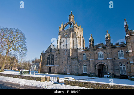 King's College, Aberdeen Scotland with the chapel's Crown Tower visible in Winter  SCO 6035 - Stock Photo