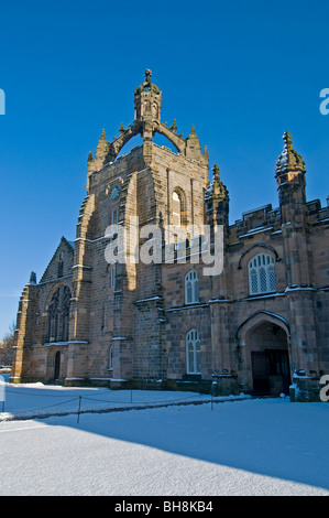 King's College, Aberdeen Scotland with the chapel's Crown Tower visible in Winter  SCO 6036 - Stock Photo