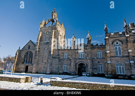 King's College, Aberdeen Scotland with the chapel's Crown Tower visible in Winter  SCO 6034 - Stock Photo