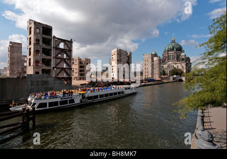 Remains of the Palast der Republik, Palace of the Republic, Berlin, Germany, Europe - Stock Photo