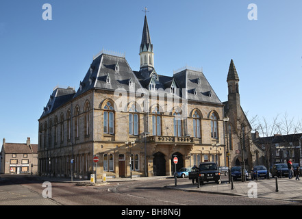 The town hall in Bishop Auckland, Co. Durham, England, UK - Stock Photo