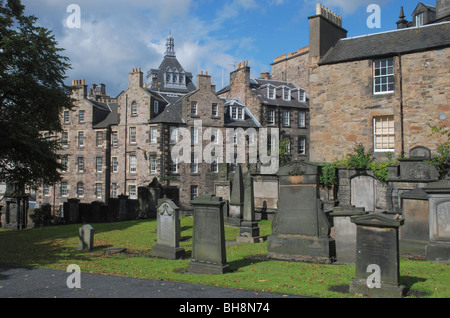 Greyfriars Kirkyard in Edinburgh's Old Town. - Stock Photo