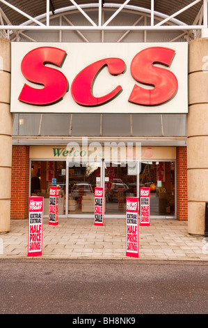 The SCS specialist sofa furniture shop store in Norwich , Norfolk , England , Britain , Uk - Stock Photo