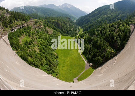 View of Lavizzara Valley, Ticino , Switzerland - Stock Photo