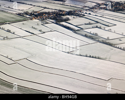 Outside of Kirbymoorside, North Yorks Moors, Snow covered,  North Yorkshire, Northern England - Stock Photo