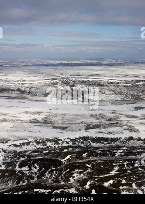 North Yorks Moors, Snow covered,  North Yorkshire, Northern England - Stock Photo