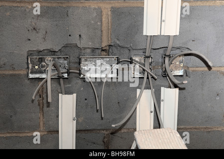 First fix wiring a new home extension - Stock Photo