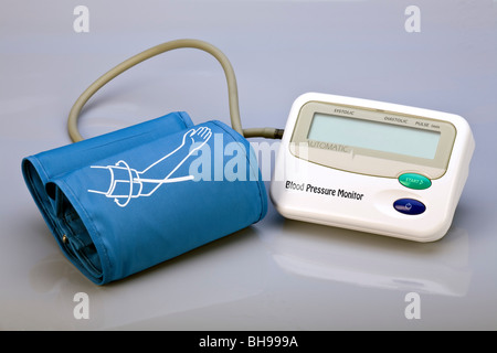 DIY blood pressure monitor home - Stock Photo