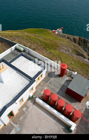 View from the Mull of Galloway lighthouse in Dumfries and Galloway south west Scotland UK built in 1830 by Robert - Stock Photo