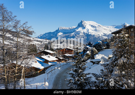 View over the resort of Megeve, Haute Savoie, France - Stock Photo