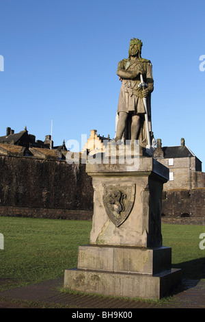 Statue of Robert The Bruce outside Stirling Castle