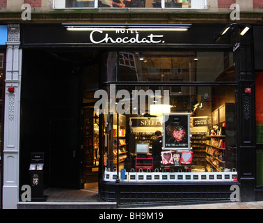 Hotel Chocolat retail outlet in Leeds, England, U.K. - Stock Photo