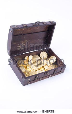 Schatztruhe - Treasure Chest - Stock Photo