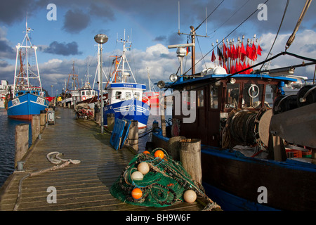 Fishing boats in the harbor at Sassnitz, island of Ruegen, Mecklenburg-Western Pomerania, Germany