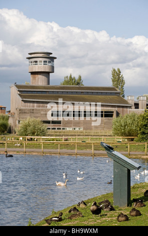 Slimbridge WWT visitor centre, Gloucestershire, England - Stock Photo