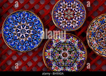 Plates in a souvenir shop in Sevilla, Andalusia, Spain, Europe Stock Photo, R...