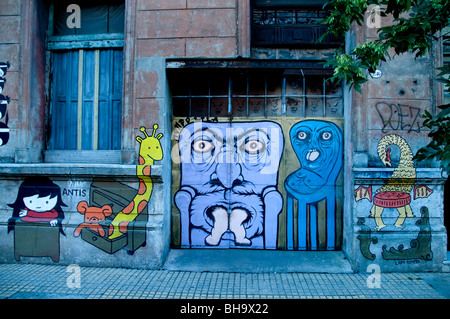 Buenos Aires Argentina Graffiti communication  message  painting depiction picture - Stock Photo