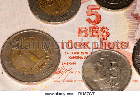 Turkish Lira money - Stock Photo