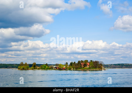 One island of nearly 30,000 in Stockholms Skärgården (Stockholm Archipelago), Sweden - Stock Photo