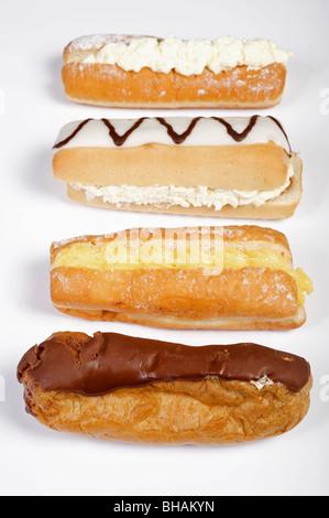 Selection of Fresh Daily Cream cakes - Stock Photo