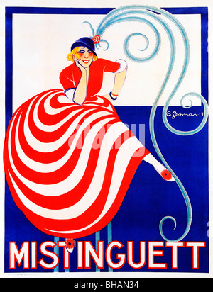 Mistinguett, 1917 early Art Deco poster by Charles Gesmar for the then ageing French cabaret sensation - Stock Photo