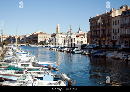 The boat-lined Royal Canal is the main waterway in Sète, France's largest Mediterranean fishing port
