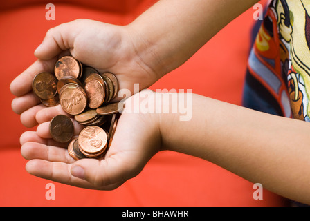 handful of coins - Stock Photo