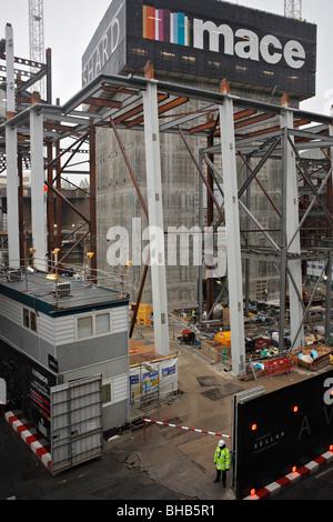 The Shard building site, London, England, UK. - Stock Photo