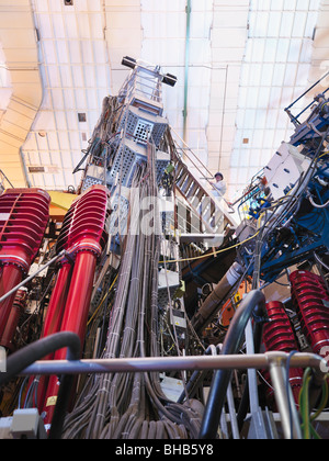 Scientist On Top Of Fusion Reactor - Stock Photo