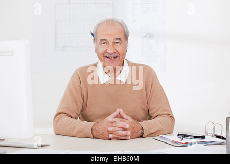Portrait of senior businessman - Stock Photo