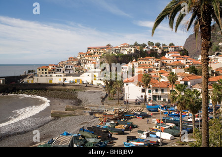 Portugal Madeira Camara de Lobos harbour - Stock Photo