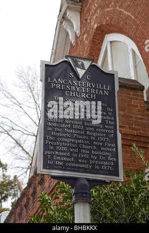 This congregation was organized May 5, 1835. Its first minister was James H. Thornwell, who later headed SC College - Stock Photo
