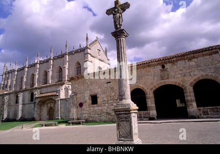 St. James Way: Cartuja of Miraflores, Monastery. Burgos province, Castilla-León. Spain - Stock Photo