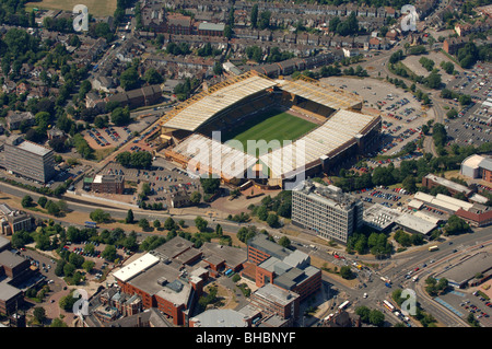 An aerial view of Molineux stadium the home of Wolverhampton Wanderers Football Club - Stock Photo