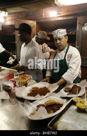Kitchen, Charlie Vergos Rendezvous - Charcoal Ribs Restaurant, Memphis, Tennessee, USA