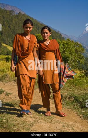 Nepali college girls uniform girls