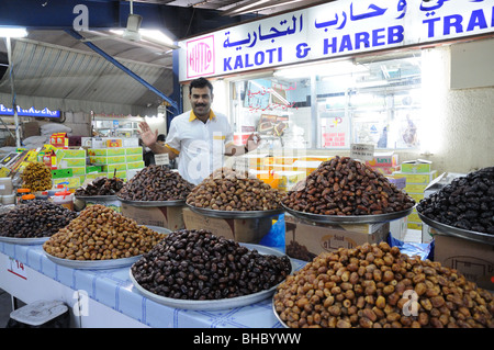 Dates Salesman in Dubai, United Arab Emirates - Stock Photo